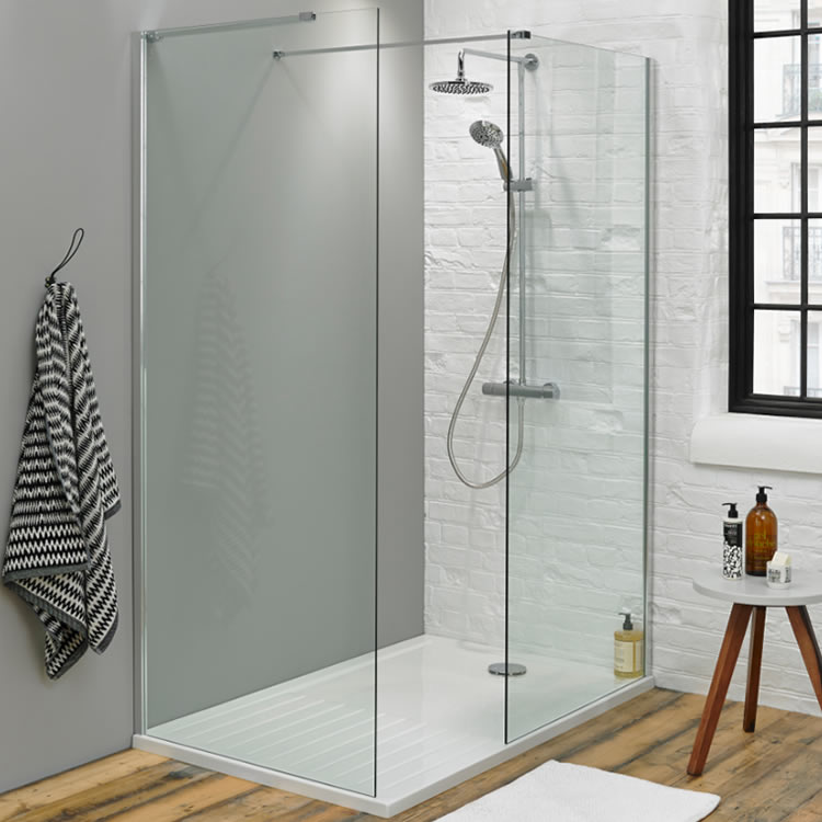 Summit 1700 x 800mm Walk In Shower with Side Panel & Tray