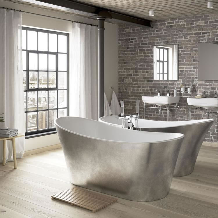 Heritage Holywell 1710mm Stainless, Stainless Steel Bathroom