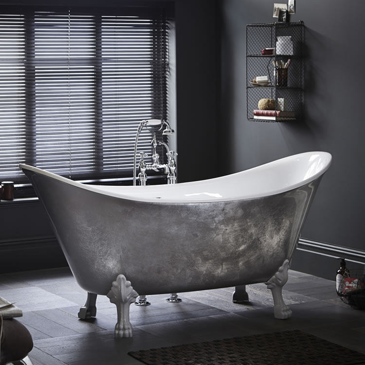 Lifestyle Photo of Heritage Lyddington 1730mm Copper Effect Freestanding Acrylic Double Ended Bath