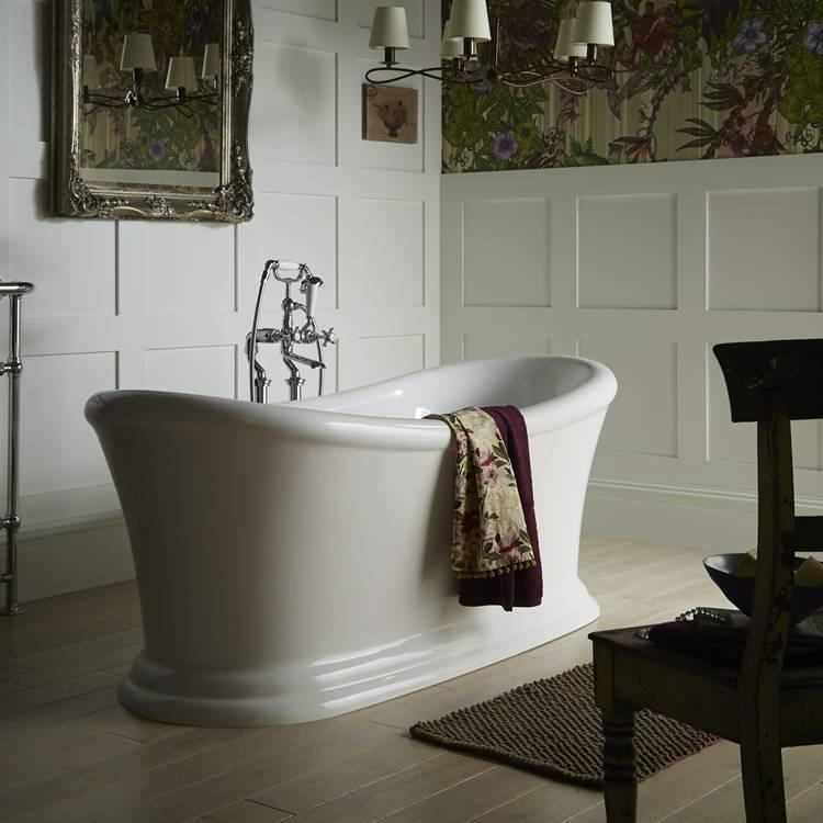 Photo of Heritage Orford 1700mm Freestanding Acrylic Double Ended Slipper Bath Lifestyle Image