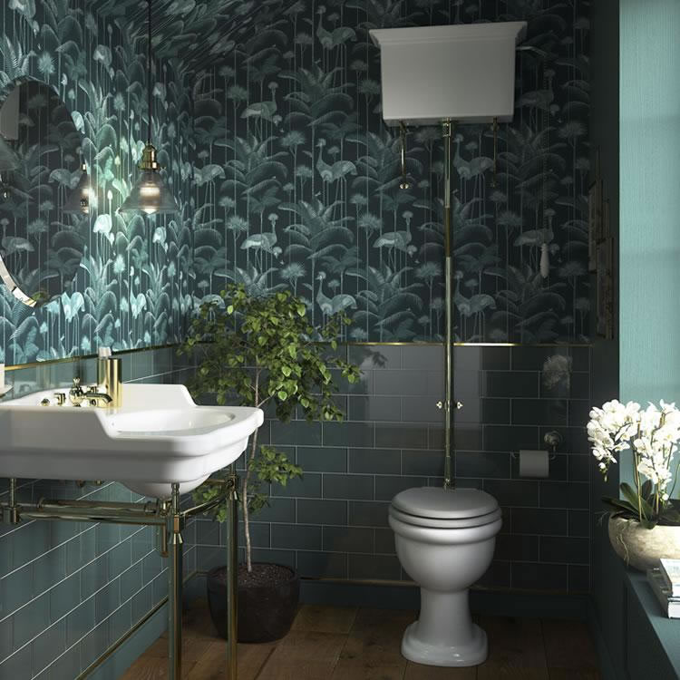 Photo of Heritage Victoria High Level WC & Cistern Vintage Gold Flush Pack