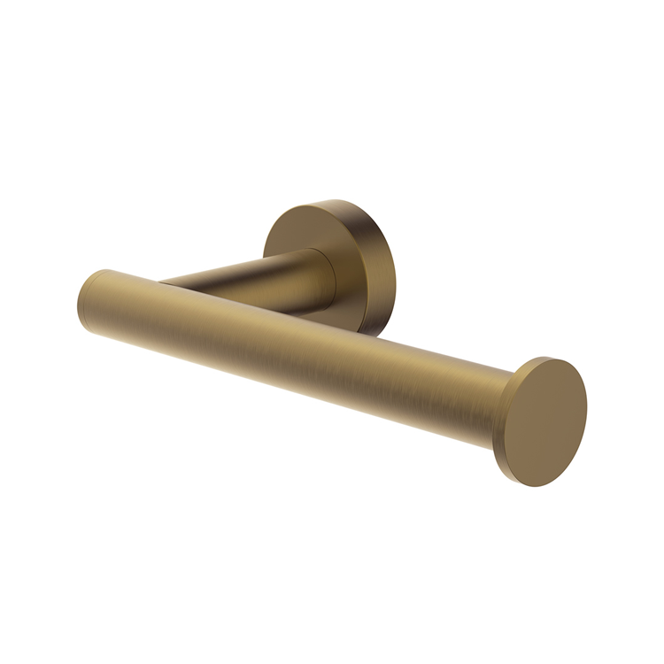 Photo of Britton Bathrooms Hoxton Brushed Brass Single Toilet Roll Holder