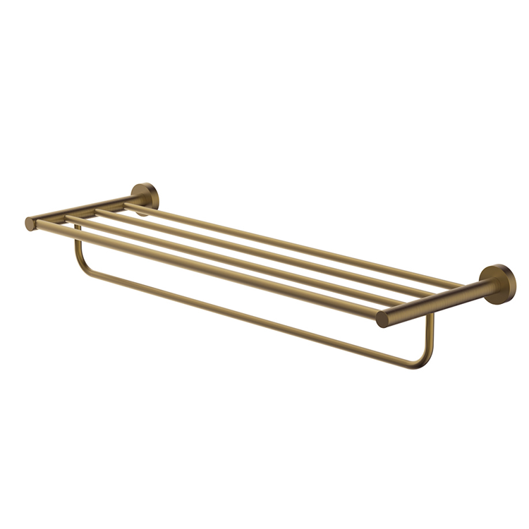 Photo of Britton Bathrooms Hoxton Brushed Brass Towel Rack