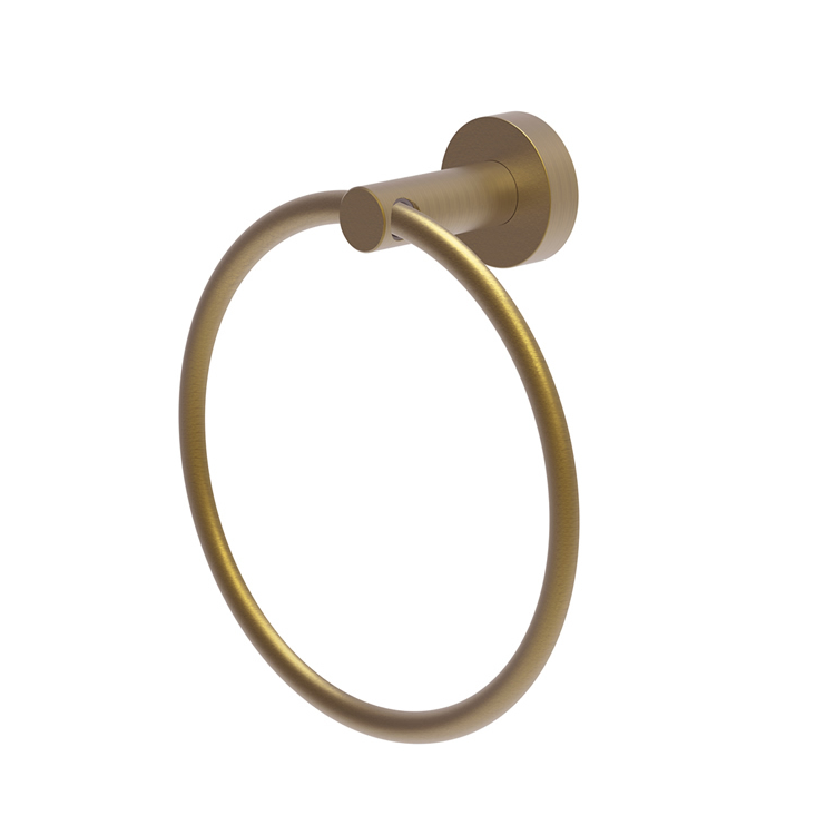 Photo of Britton Bathrooms Hoxton Brushed Brass Towel Ring