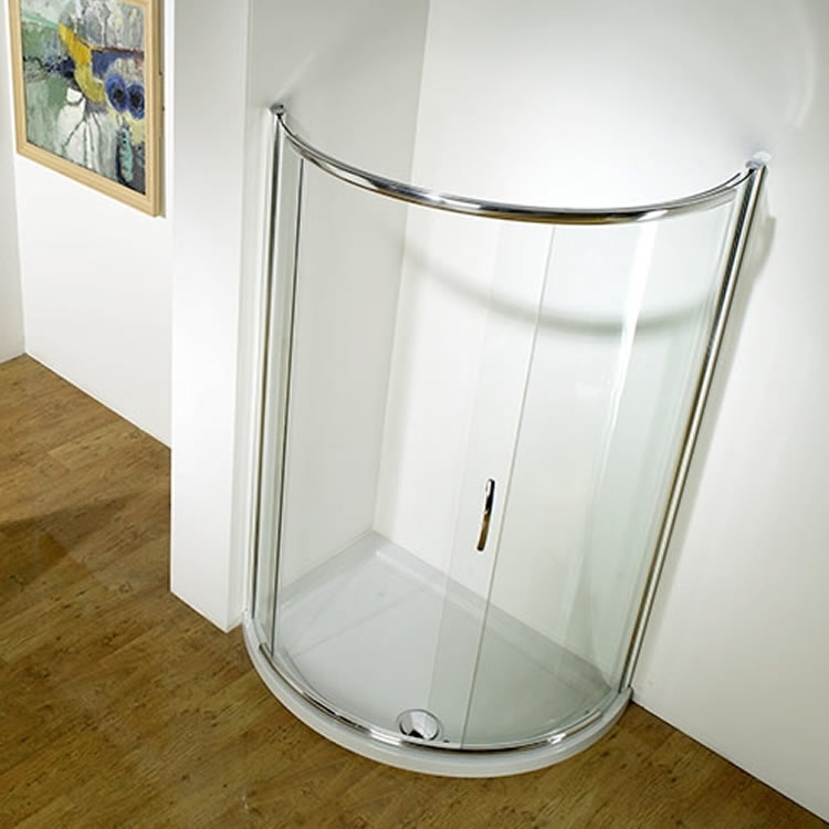 Kudos Infinite 1200mm Side Access Offset Curved Sliding Door & Tray