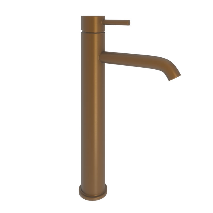 Photo of Abacus Iso Brushed Bronze Tall Mono Basin Mixer