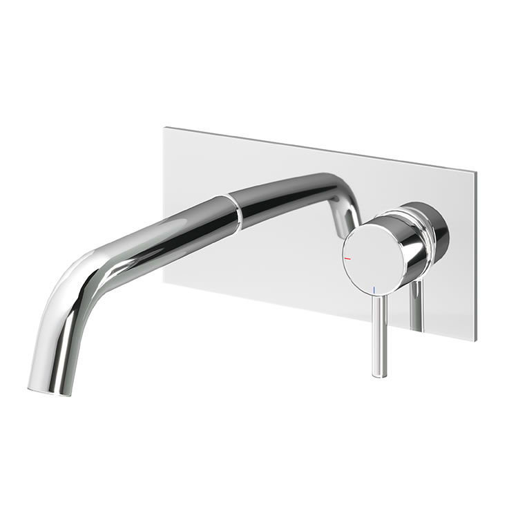 Photo of Abacus Iso Chrome Wall Mounted Basin Mixer