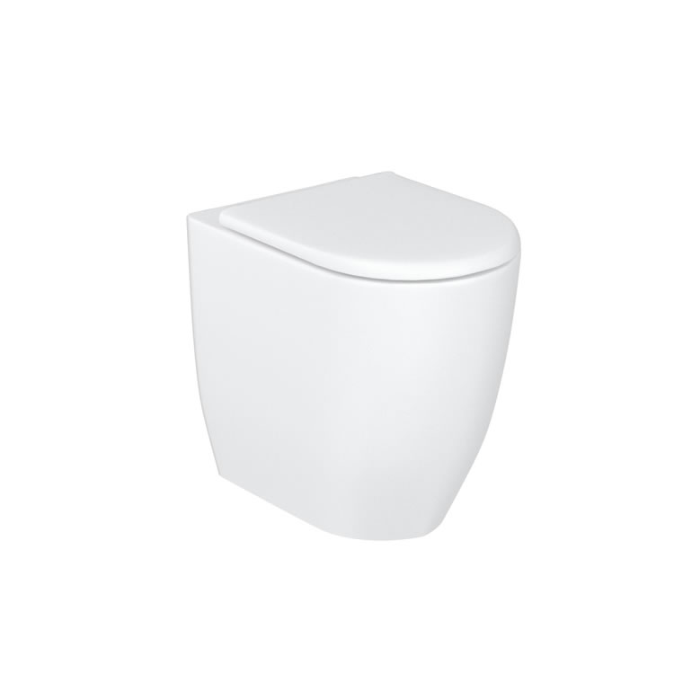 Photo of Britton Bathrooms Milan Rimless Back to Wall WC & Seat