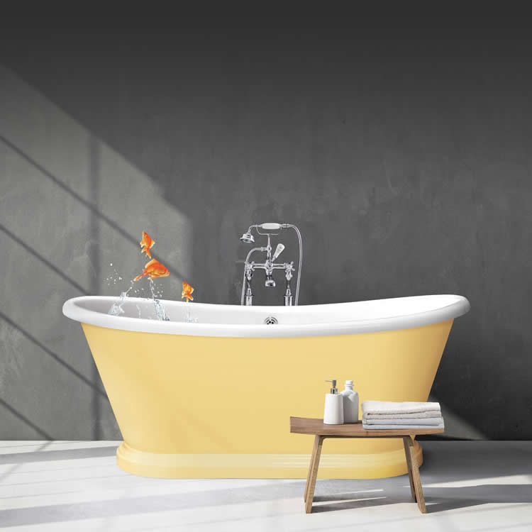 Photo of BC Designs 1700mm Acrylic Freestanding Boat Bath in blue