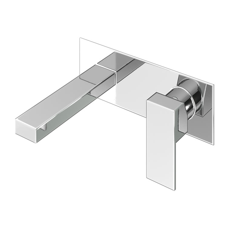 Photo of Abacus Plan Chrome Wall Mounted Basin Mixer