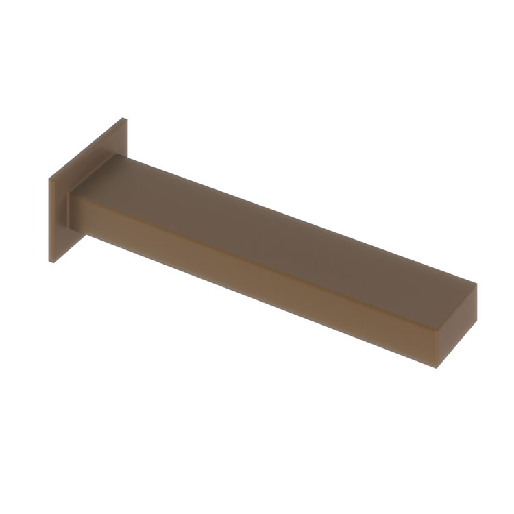 Photo of Abacus Plan Brushed Bronze Wall Mounted Bath Spout