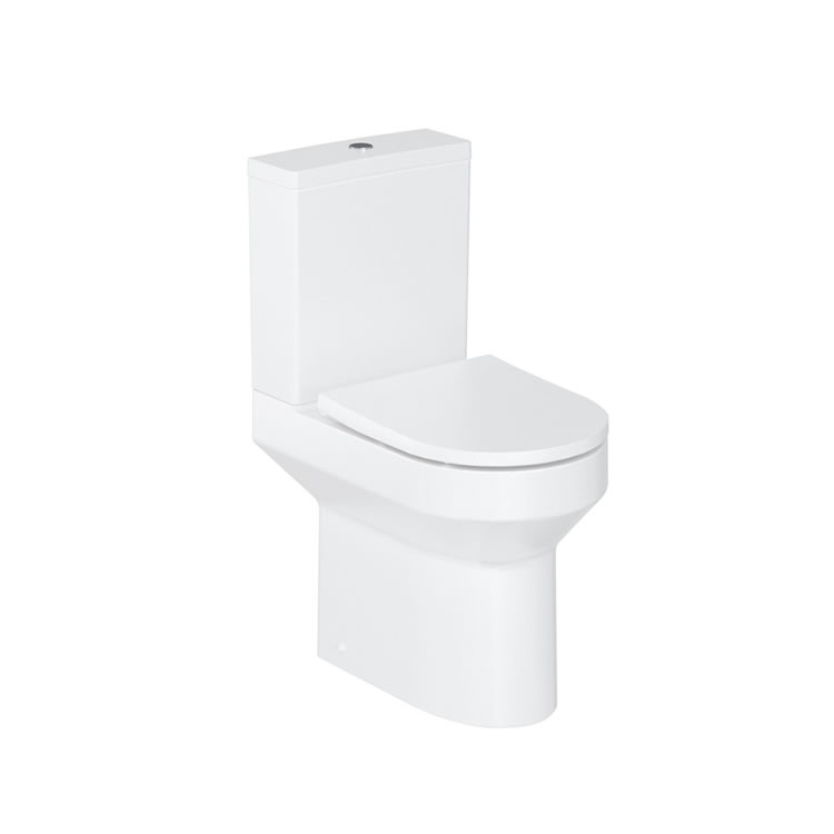 Photo of Britton Bathrooms Shoreditch Round Close Coupled WC & Seat