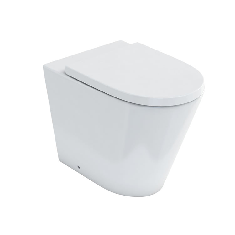 Photo of Britton Bathrooms Sphere Rimless Back to Wall WC & Seat