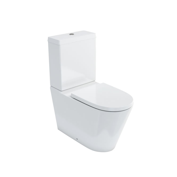 Photo of Britton Bathrooms Sphere Tall Close Coupled WC & Seat