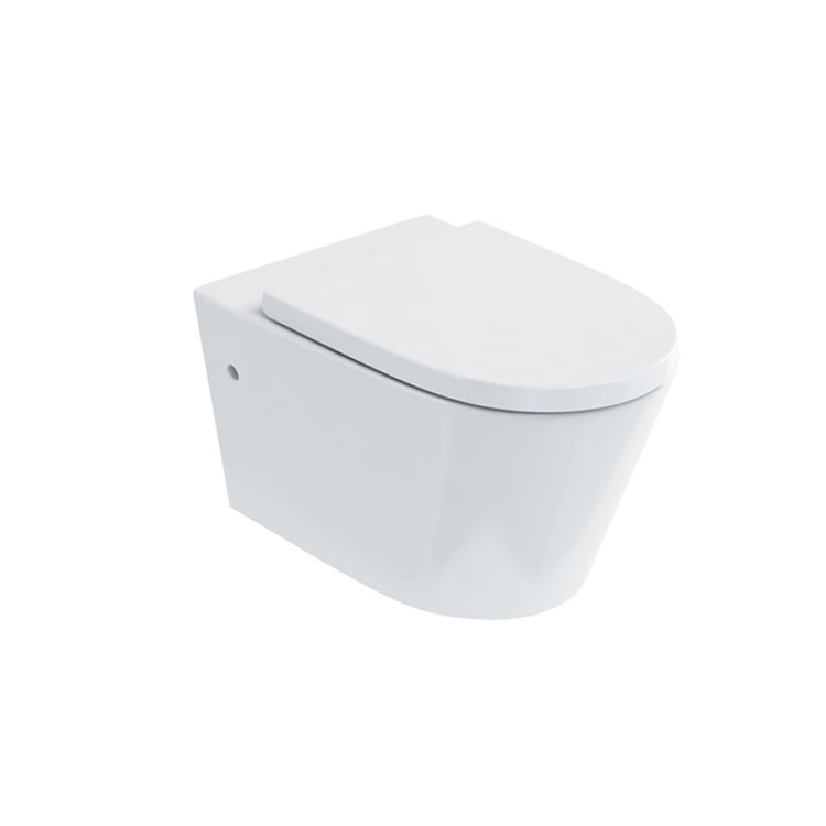 Photo of Britton Bathrooms Sphere Rimless Wall Hung WC & Seat