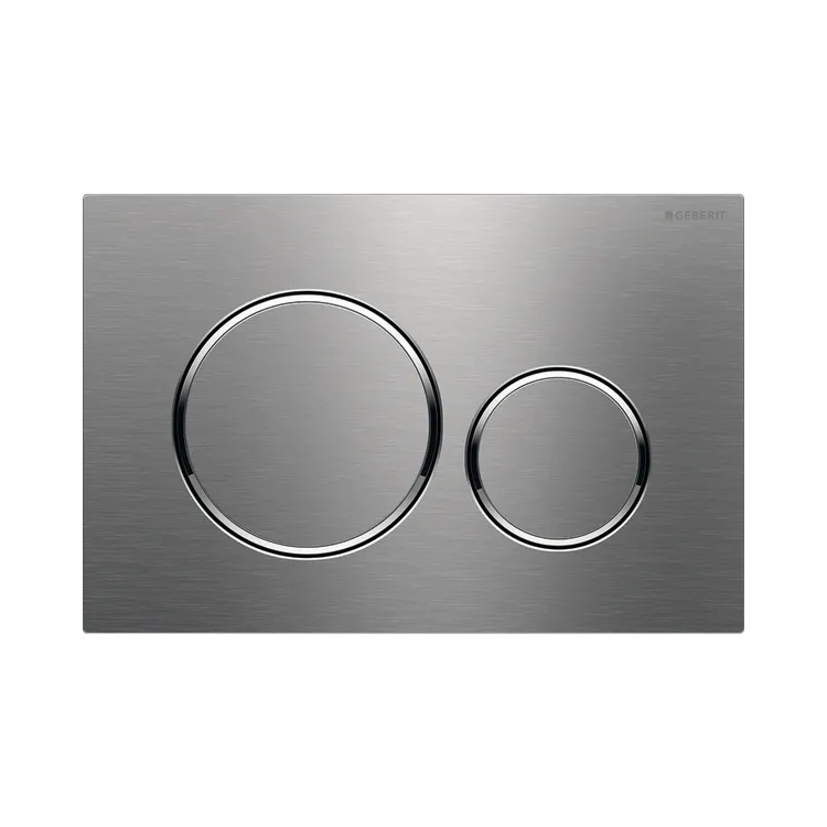 Photo of Geberit Sigma20 Flush Plate in Brushed Stainless Steel Finish