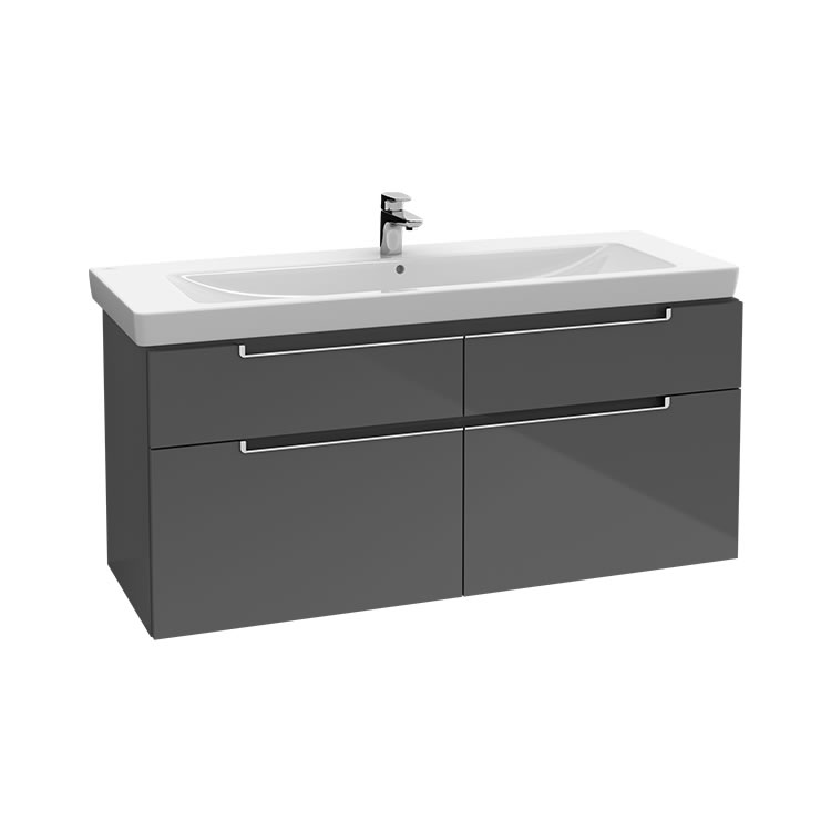 Photo of Villeroy and Boch Subway 2.0 1300mm Four Drawer Wall Hung Unit
