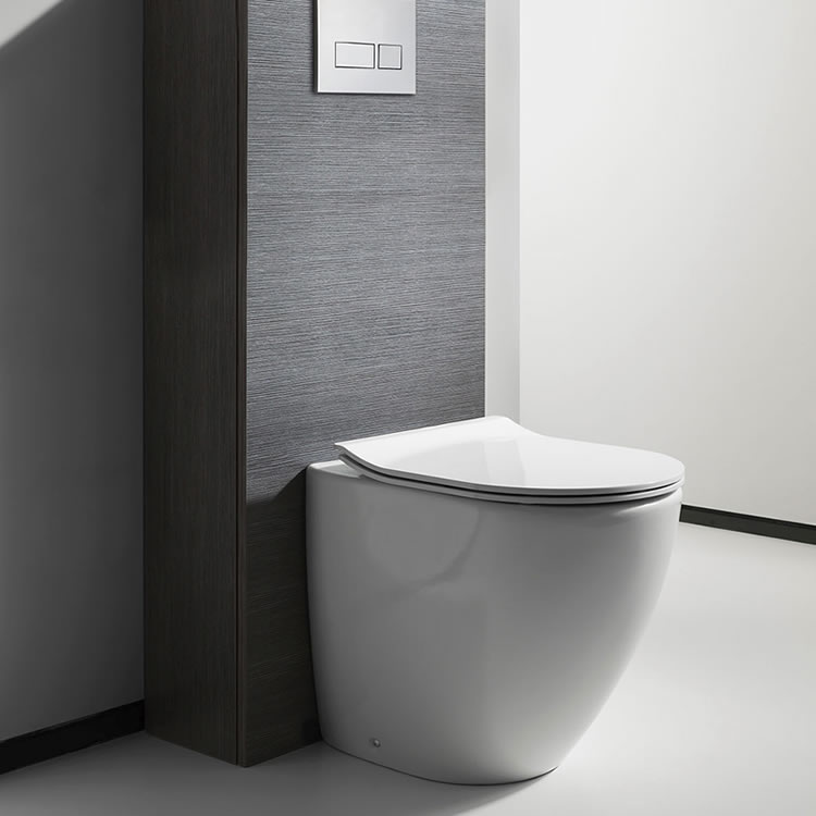 Crosswater Svelte White Back to Wall Toilet & Soft Close Seat