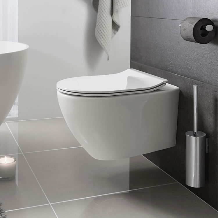 Crosswater Svelte White Wall Hung Wc Soft Close Seat Sanctuary Bathrooms