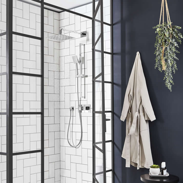 Roper Rhodes Hydra Dual Function Shower with Fixed Head & Riser Rail - Image 1
