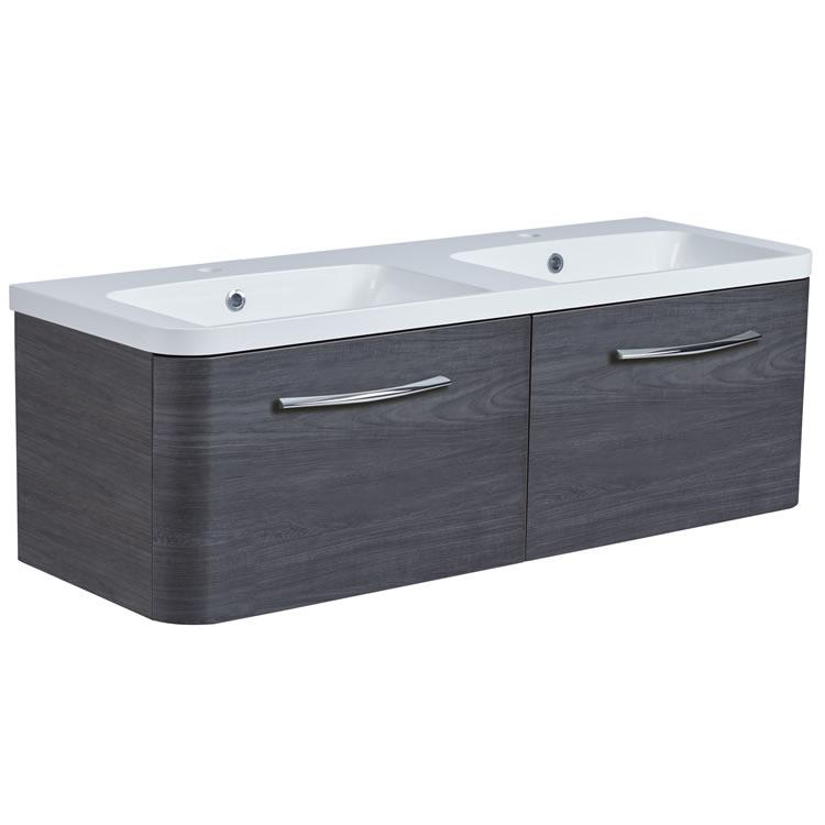 Roper Rhodes System 1200mm Umbra Wall Mounted Vanity Unit and Basin - Image 1