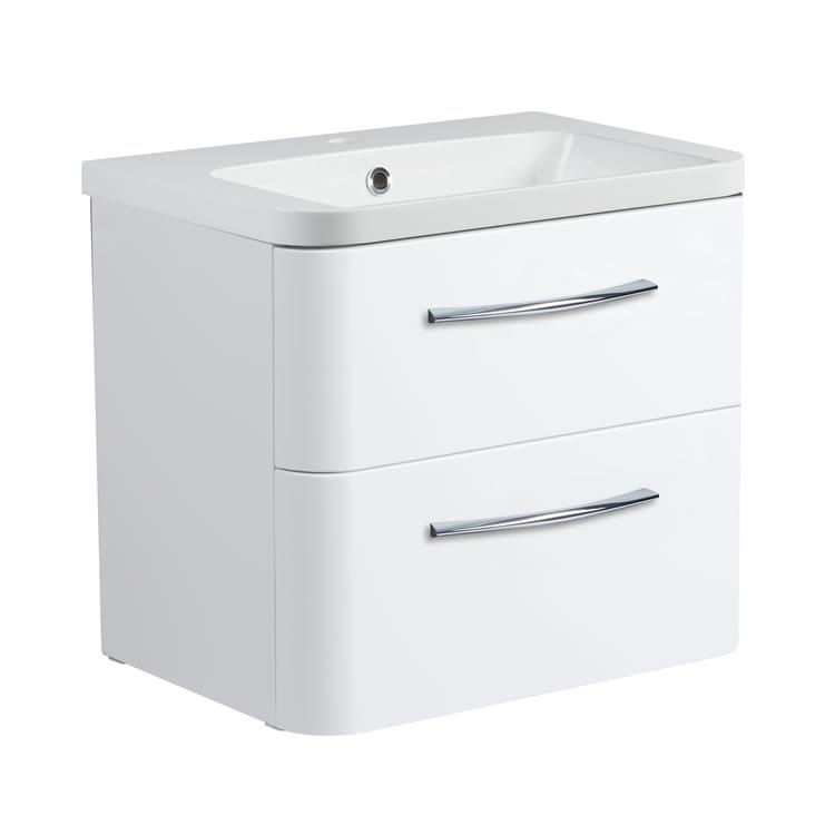 Roper Rhodes System 600mm Gloss WhiteWall Mounted Vanity Unit and Basin Image 1