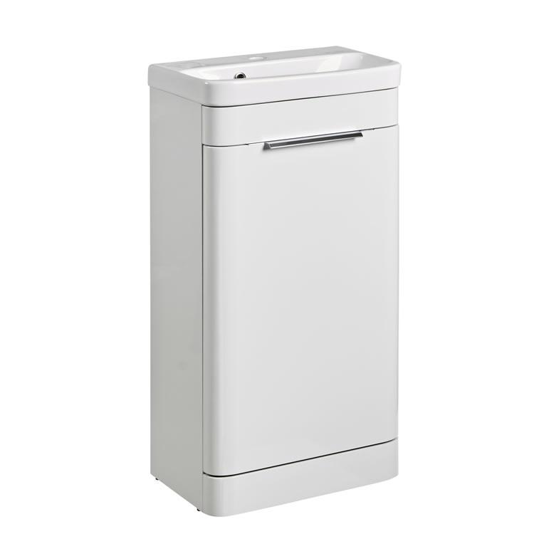 Photo of Roper Rhodes System 450mm Gloss White Cloakroom Unit & Basin