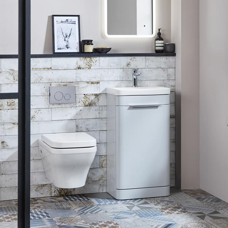 Photo of Roper Rhodes System 450mm Gloss Light Grey Cloakroom Unit - Image 1