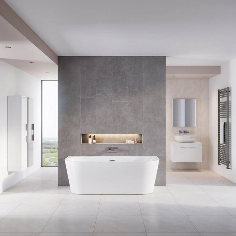 Lifestyle Photo of Mere Angelo 1700mm x 800mm Twin Skinned Acrylic Bath