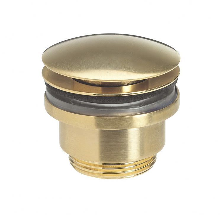 Photo Of Crosswater Union Brushed Brass Click Clack Basin Waste
