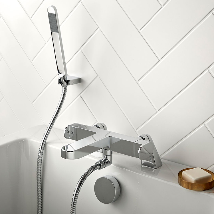 Photo of Vado Life Thermostatic Deck Mounted Bath Shower Mixer Lifestyle Image