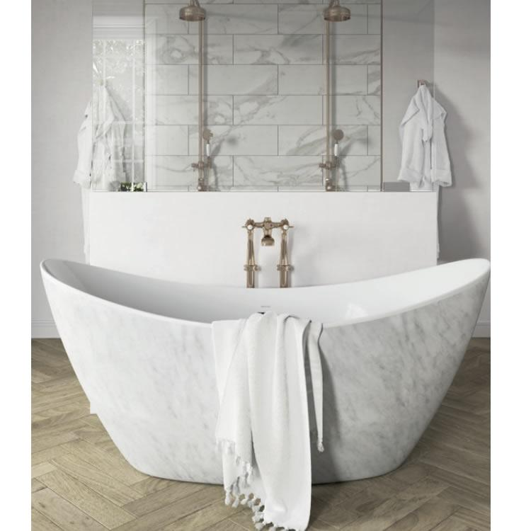 Photo of Heritage Wenlock Marble Effect Double Ended Freestanding Bath