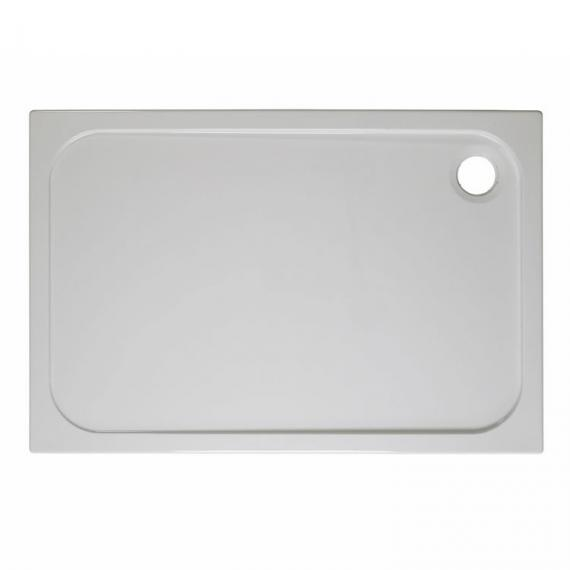 Simpsons Rectangular 1100 x 800mm 45mm Stone Resin Shower Tray & Waste