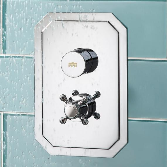 Crosswater Dial Portrait Shower Valve 1 Control with Belgravia Trim