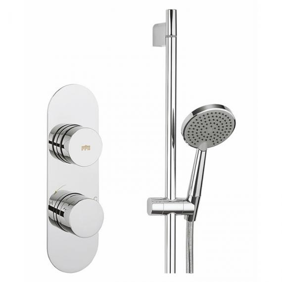 Crosswater Dial Valve 1 Control with Central Trim & Solo Shower