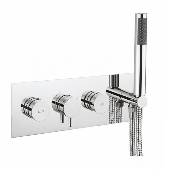Crosswater Dial Shower Valve 2 Control with Kai Lever Trim & Handset