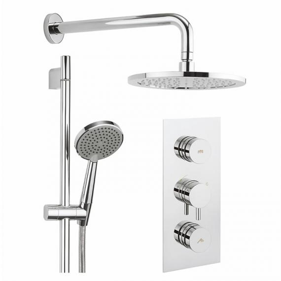 Crosswater Dial Shower Valve 2 Control with Kai Lever Trim, Head & Handset