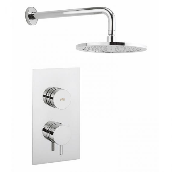 Crosswater Dial 1 Control with Kai Lever Trim & Round Shower Head