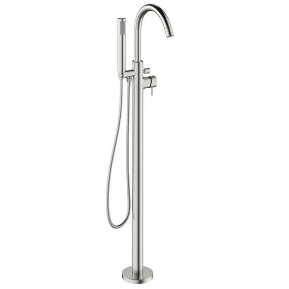 Crosswater Mike Pro Brushed Stainless Steel Floorstanding Bath Shower Mixer