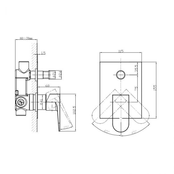 Crosswater Modest Manual Shower Valve - MO0005RC