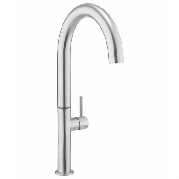 Crosswater Cucina Tube Tall Stainless Steel Round Side Lever Kitchen Mixer