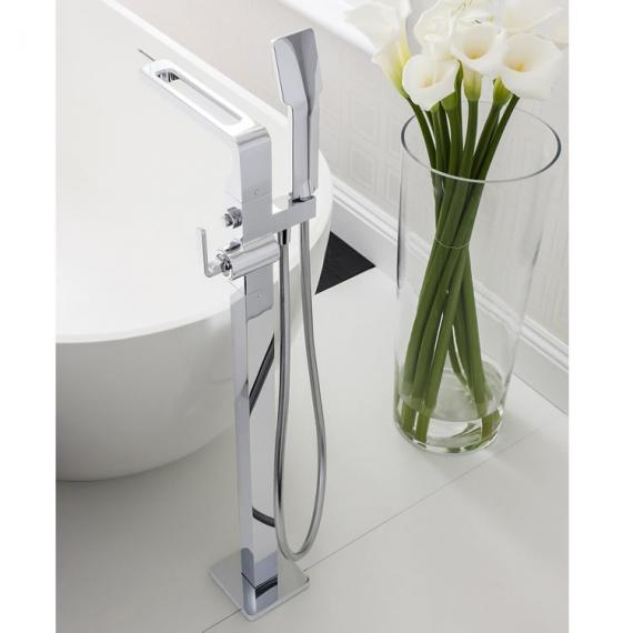 Crosswater Kelly Hoppen Zero 1 Floorstanding Bath Shower Mixer with Shower Kit