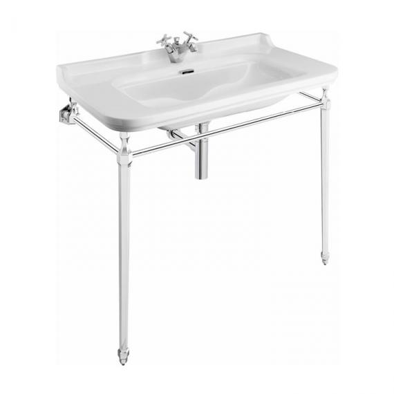 Bauhaus Waldorf 100 Single Tap Hole Basin with Console