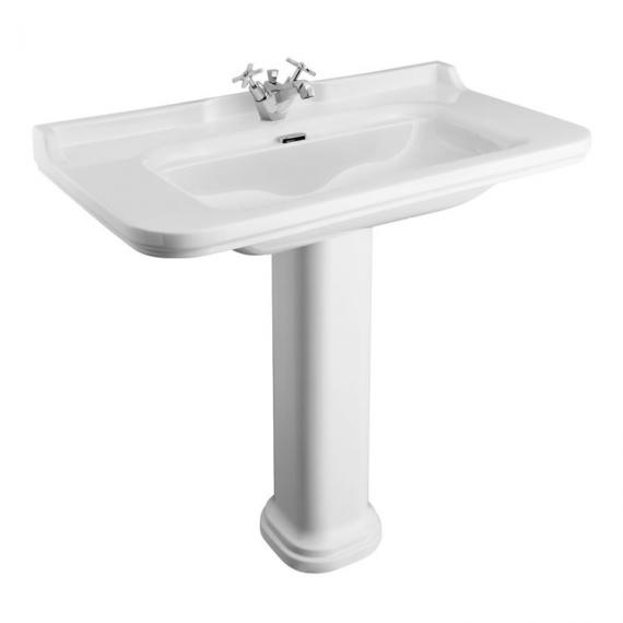 Bauhaus Waldorf 100 Single Tap Hole Basin with Pedestal
