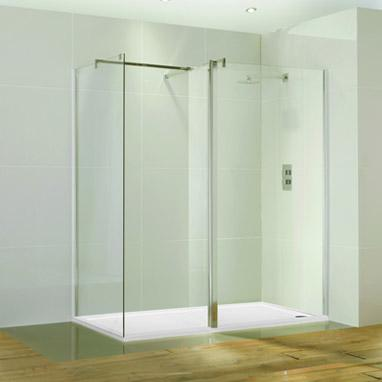 Aquaglass 1400 x 800 Walk In Shower Enclosure & Tray