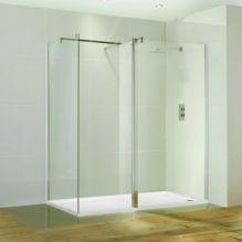 Aquaglass 1500 x 800 Walk In Shower Enclosure & Tray