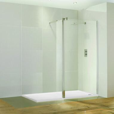 Aquaglass 1400 Walk In Shower & Tray