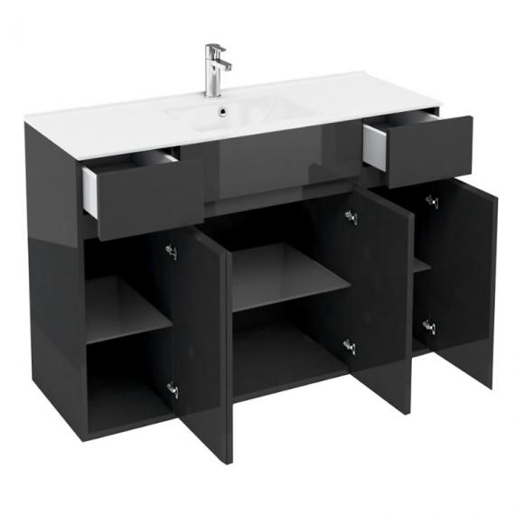 Aqua Cabinets D450 Black 300mm Unit