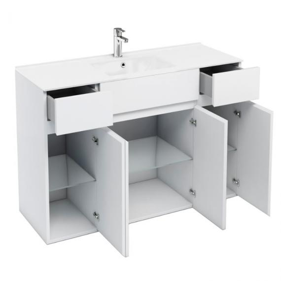 Aqua Cabinets D450 White 300mm Unit