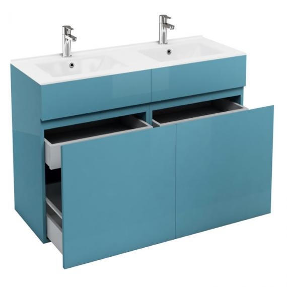 Aqua Cabinets D450 Ocean 1200 Double Drawer Vanity Unit & Basin